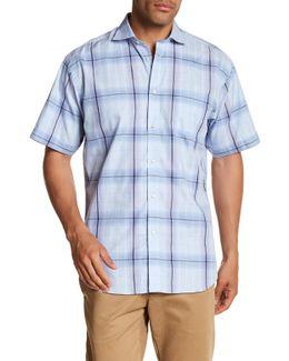 Windowpane Short Sleeve Regular Fit Shirt