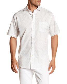 Dotted Short Sleeve Regular Fit Shirt