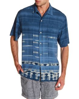 Geo De Janiero Short Sleeve Original Fit Silk Shirt