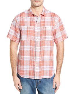 Caldera Plaid Standard Fit Linen Sport Shirt