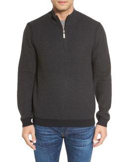 Make Mine A Double Reversible Quarter Zip Sweater