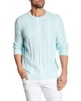 Marled Silk Blend Sweater
