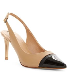 Podium Slingback Pump