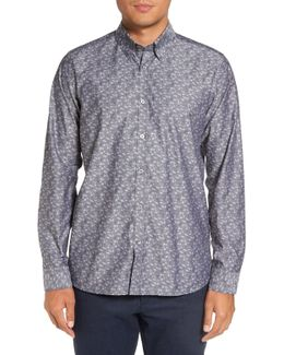 'jackboy' Trim Fit Jacquard Sport Shirt