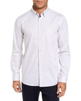 Nikos Trim Fit Geo Print Sport Shirt