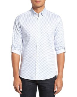 'timbrook' Trim Fit Medallion Print Sport Shirt