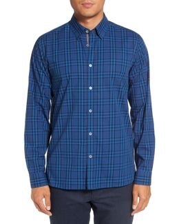Murcia Extra Slim Fit Plaid Cotton Sport Shirt