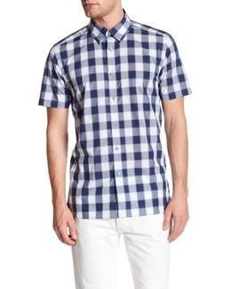 Gingham Trim Fit Shirt