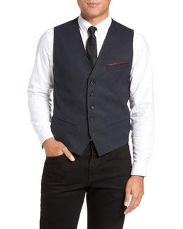Cabwai Woven Four Button Vest
