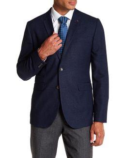 Wellhot Solid Blue Sport Coat