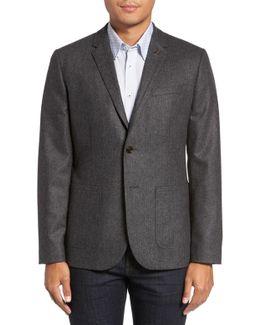 Herringbone Wool Blend Sport Coat