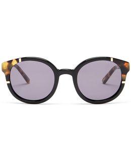 Women's Full Rim Round Acetate Sunglasses
