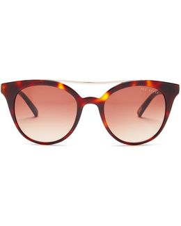 Women's Full Rim Modified Round Sunglasses