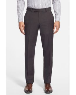 'jefferson' Flat Front Wool Trousers