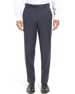 Jefferson Trim Fit Houndstooth Wool Trousers