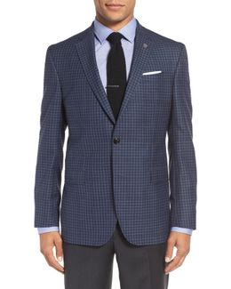 'jay' Trim Fit Check Wool Sport Coat