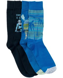 Multi-print Socks - Pack Of 4