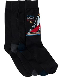 Yacht Socks - Pack Of 4