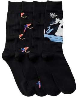 Parrot Socks - Pack Of 4