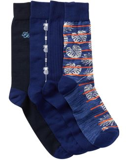Deep Space Crew Socks - Pack Of 4