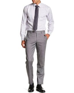 Jarrett Grey Screen Check Wool Trouser