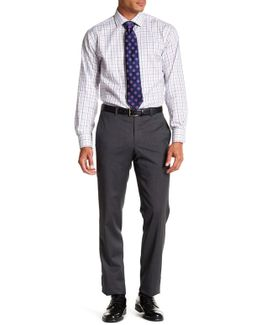 Jarrett Charcoal Screen Check Wool Trouser