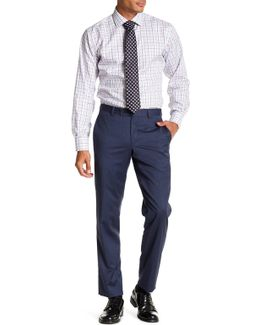 Jarret Blue Screen Check Wool Trouser