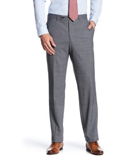 Jarrett Grey Windowpane Wool Pant