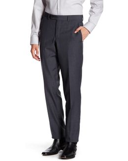 Extra Trim Fit Flat Front Wool Pant