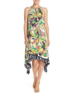 Michalin Print Jersey Faux Wrap Dress