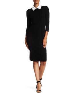 Bookish Ribbed Merino-blend Sweater Dress
