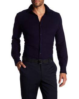 Solid Waffle Full Button Shirt