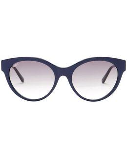 Women's Cat Eye Plastic Frame Sunglasses