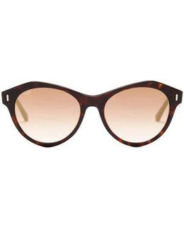 Women's Round Plastic Frame Sunglasses