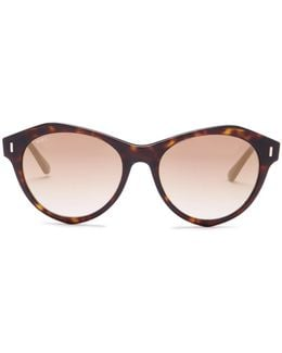 Unisex Round Plastic Frame Sunglasses