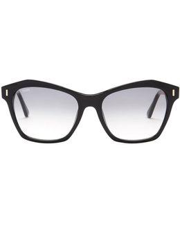 Women's Square Plastic Frame Sunglasses