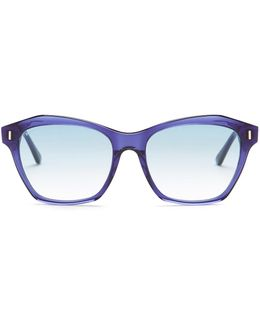 Women's Square Acetate Frame Sunglasses