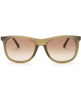 Women's Squared Textured Sunglasses