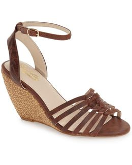 Top Notch Knotted Wedge Sandal