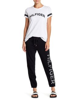 Slender Cropped Terry Sweatpants