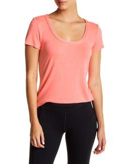 Cutout Back Short Sleeve Shirt