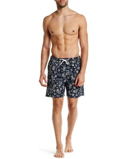San O Short Paisley Swim Trunk
