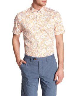 Floral Trim Fit Shirt