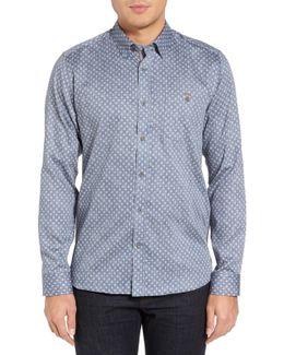 Teo Print Extra Slim Fit Sport Shirt