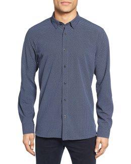 Werlwin Print Extra Slim Fit Sport Shirt