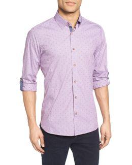 Eethan Extra Slim Fit Roll Sleeve Sport Shirt