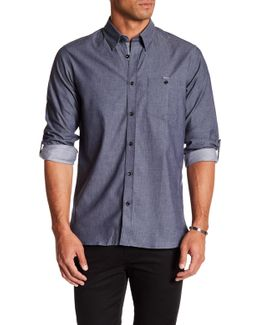 Slim Fit Semi Plain Shirt