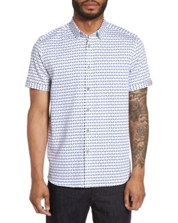 Sownd Print Short Sleeve Sport Shirt