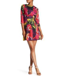 Leoti Print Ponte Fit & Flare Dress