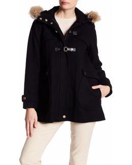 Elizabeth Genuine Coyote Fur Trim Coat